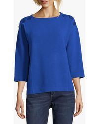 Betty Barclay Button Trimmed Top - Blue