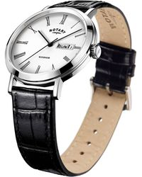 John Lewis - Rotary Gs05300/01 Men's Windsor Day Date Leather Strap Watch - Lyst
