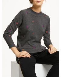 Numph - Indu Spotted Knit Jumper - Lyst