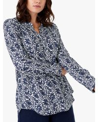 Brora Painterly Floral Tunic - Blue