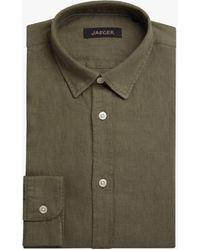 Jaeger Long Sleeve Linen Shirt - Green