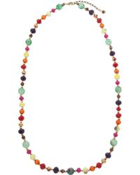One Button - Bright Bead Long Necklace - Lyst