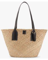 Jigsaw Chiltern Extra Large Straw Shoulder Bag - Black