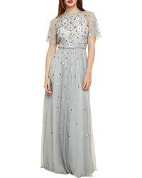 Phase Eight Celestra Embellished Maxi Dress - Blue