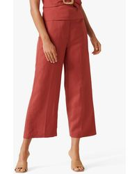Forever New Byron Linen Blend Culottes - Red