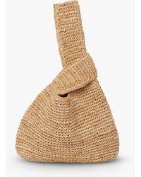 L.K.Bennett Taylor Raffia Knot Bag - Natural