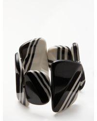 One Button - Stripe Asymmetric Pebble Stretch Bracelet - Lyst