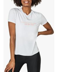 Sweaty Betty Euphoria Slogan T-shirt - White