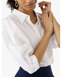 Brora Puff Sleeve Blouse - White