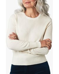 Pure Collection Cropped Cashmere Jumper - White