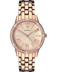 51a40fae2 Sekonda 2629g.65 Women's Double Leather Strap Watch Gift Set - Lyst