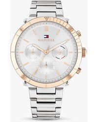 Tommy Hilfiger Emery Chronograph Bracelet Strap Watch - Metallic