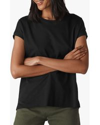 Whistles - Minimal Cap Sleeve Cotton Top - Lyst