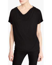 Ralph Lauren Flahiva Jersey Top - Black