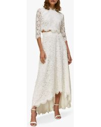 Whistles Ariane Lace Wedding Co-ord Skirt And Top - White