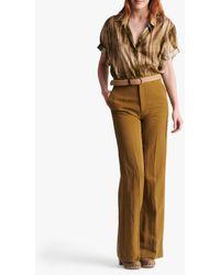 Gerard Darel Mayura Wide Leg Trousers - Multicolour