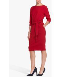 Helen Mcalinden Obi Caroline Tie Waist Pencil Dress - Red