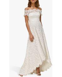 Whistles Rose Wedding Dress - White