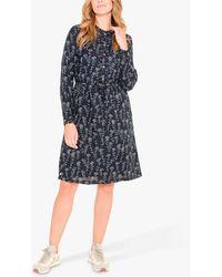 Brakeburn Shepherd Purse Print Dress - Blue
