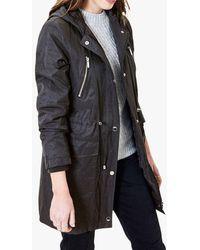 Oasis Hooded Raincoat - Grey
