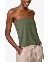 Baukjen Lily Bandeau Jersey Top - Green
