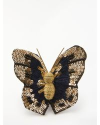 One Button - Butterfly Brooch - Lyst