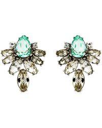 Monet - Navette Glass Crystal Stud Earrings - Lyst