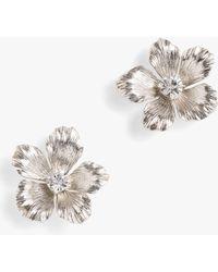 J.Crew - Pansy Flower Stud Earrings - Lyst