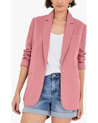 Hush Roisin Lightweight Cotton Blazer - Pink