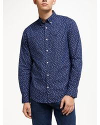 GANT - Dyed Snowflake Print Shirt - Lyst