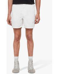 97701c6d5f AllSaints Warden Swim Shorts in White for Men - Lyst
