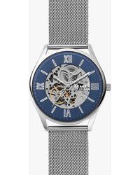 Skagen - Skw6733 Holst Automatic Skeleton Mesh Bracelet Strap Watch - Lyst