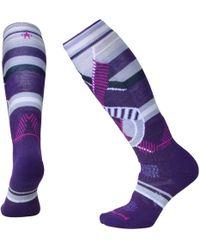 Smartwool Phd Ski Medium Otc Socks - Purple