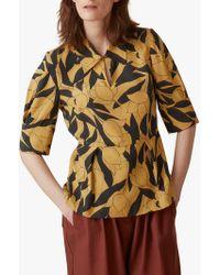 Toast - Linear Floral Print Shirt - Lyst