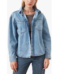 Trendyol Oversized Denim Shacket - Blue