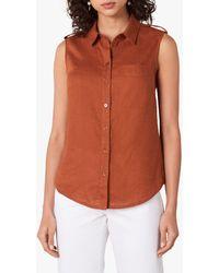 Jaeger Sleeveless Shirt - Brown