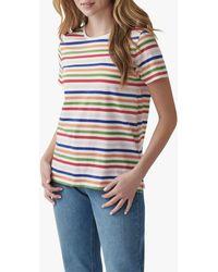 Crew Breton Stripe Cotton T-shirt - Blue