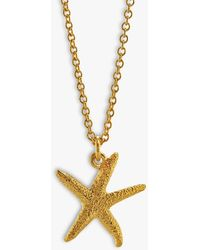 Alex Monroe Starfish Pendant Necklace - Metallic