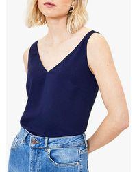 Oasis Formal Vest Top - Blue