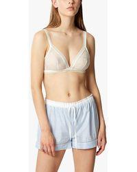 Maison Lejaby Cotton Pyjama Shorts - Blue