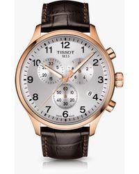 Tissot - T1166173603700 Men's Chrono Xl Classic Chronograph Date Leather Strap Watch - Lyst