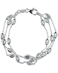 Links of London Beaded Chain 3 Row Bracelet -s - Metallic