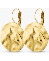 Dyrberg/Kern - Zaela French Hook Hammered Circle Drop Earrings - Lyst