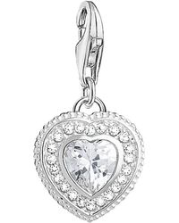 Thomas Sabo - Charm Club Cubic Zirconia Antique Heart Charm - Lyst