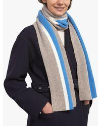 Jigsaw University Striped Wool Scarf - Blue
