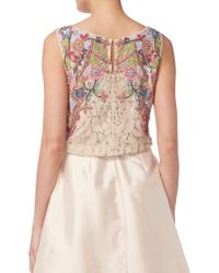 John Lewis - Raishma Floral Embroidered Top - Lyst