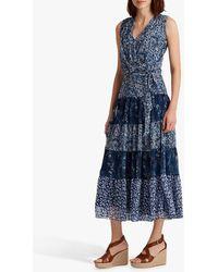 Ralph Lauren Lauren Adnan Floral Maxi Dress - Blue