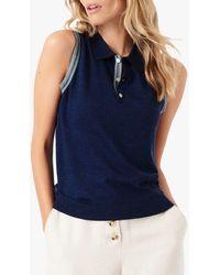 Brora Sleeveless Polo Shirt - Blue