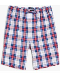 Ralph Lauren Polo Check Pyjama Shorts - Blue