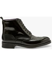 Ted Baker Twrehs Leather Brogue Boots - Black